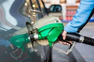 fuel nozzle in a car