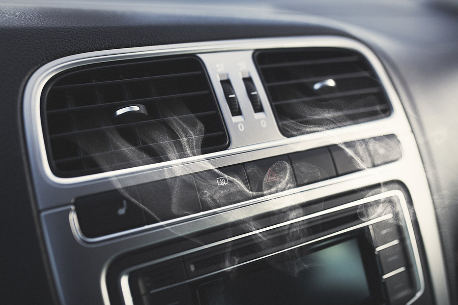 smoke from car air vents