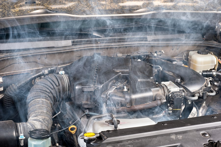 overheating car engine