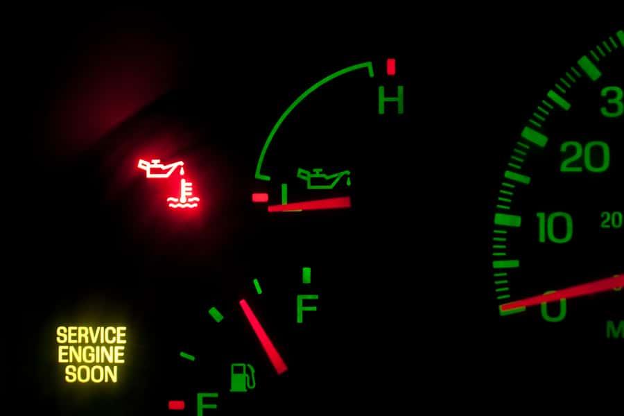 Oil check light