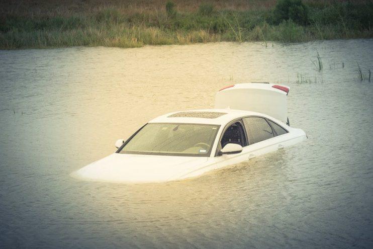 flood damaged vehicle