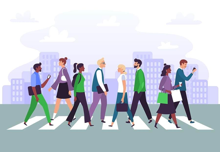 different types of pedestrian