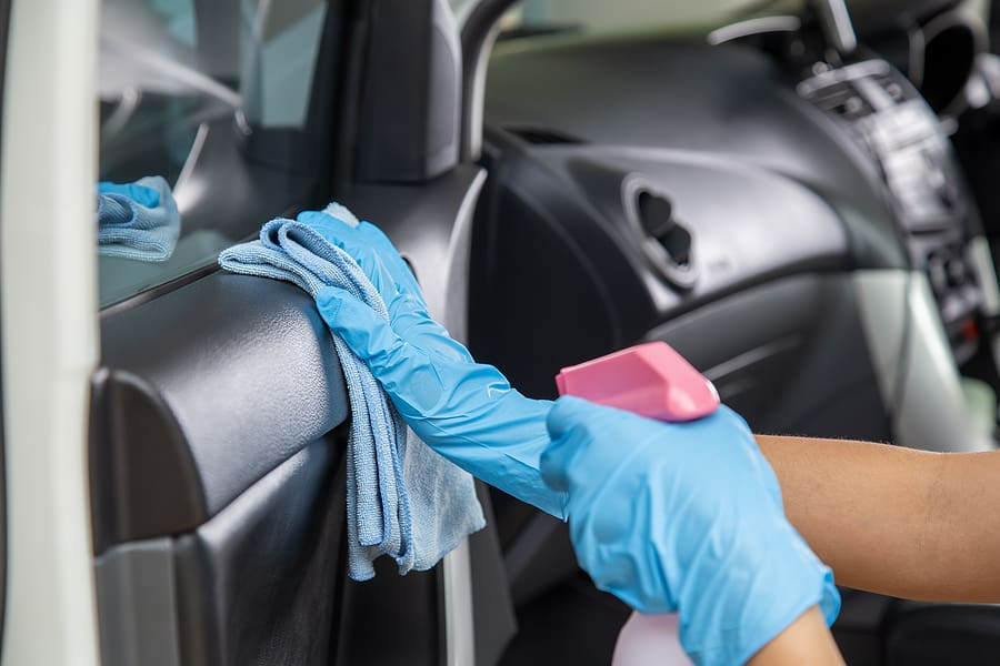 cleaning a car interior