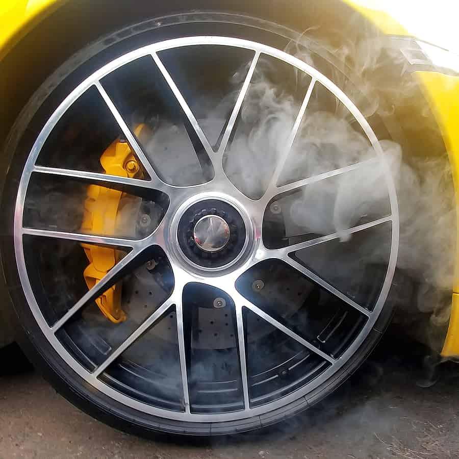 smoke coming from car brakes