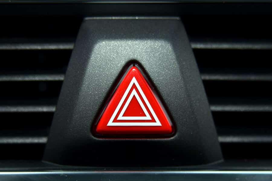 a car's hazard light switch