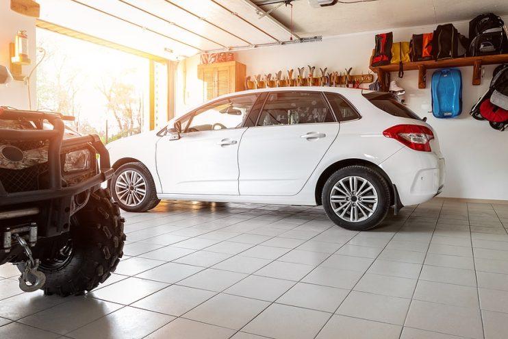 car in the garage to prevent it being stolen