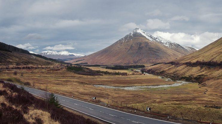 road through scenic Scotland